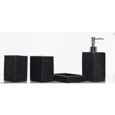 Enfin Homes Porcelain Bathroom Set  (Pack of 4) 5332 Black